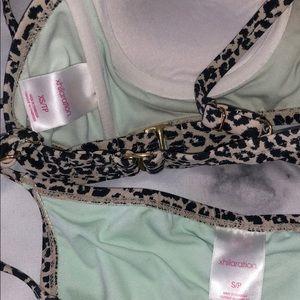 Xhilaration Swim - Leopard bikini - small bottom & XS top